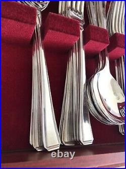 HARLEY Design 124 Piece JOHN STEPHENSON Silver Service Canteen of Cutlery