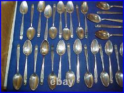 Holmes & Edwards Danish Princess Inlaid IS Silver Plate Flatware 96 Pieces
