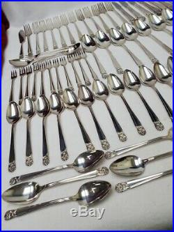 INTERNATIONAL Silverplate ETERNALLY YOURS 91-piece GRILLE Set SERVICE for 12