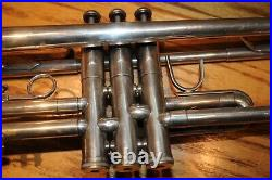 Jerome Callet NEW YORK Silver Trumpet Canadian Brass Mouth Piece Musical Instrum