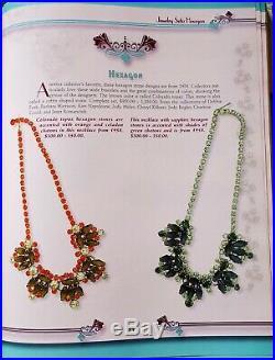 Juliana D&e Book Piece Sp Sapphire Blue Hexagon Peridot Emerald Chaton Necklace