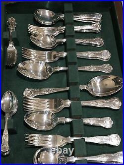 KINGS By EBEN PARKER SHEFFIELD 50 Piece Canteen of Cutlery EPNS A1
