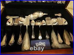 KINGS Design Arthur Price England Silver Service 45 Piece Canteen of Cutlery