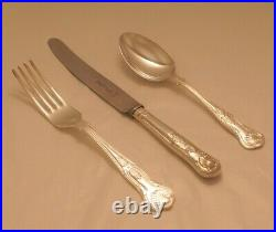 KINGS Design FRANCIS GREAVES & SONS Silver Service 44 Piece Canteen of Cutlery
