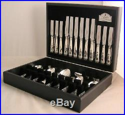 KINGS Design GEORGE BUTLER SHEFFIELD Silver Service 60 Piece Canteen of Cutlery