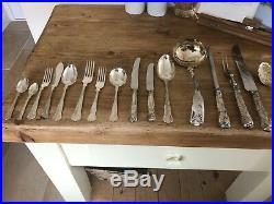 KINGS Design SHEFFIELD CROWN 130 Piece Canteen Of Cutlery EPNS A1 12 Person