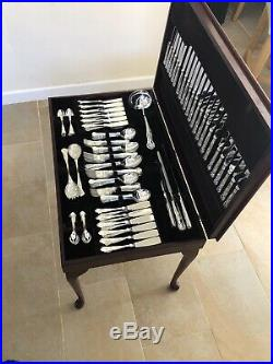 KINGS Design SHEFFIELD Silver Service 130 Piece Canteen of Cutlery 12 Place EPNS