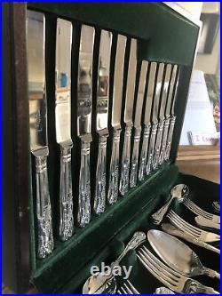 KINGS GEORGE BUTLER ART SHEFFIELD 44 Piece Canteen of Cutlery EPNS A1
