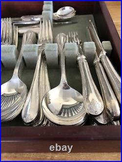 LOUIS XVI Design 101 Piece MAPPIN & WEBB London Silver ServiceCanteen of Cutlery