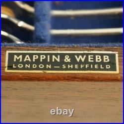 LOUIS XVI Design MAPPIN & WEBB London Silver Service 49 Piece Canteen of Cutlery