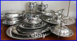 Large Lot Silverplate Silver Plate Various Manufacturers Pieces Early 1900's
