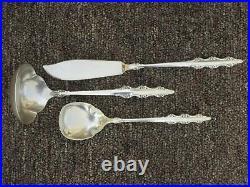 Lot of 80 Pieces of Empress International Deep Silver Silverplate Flatware