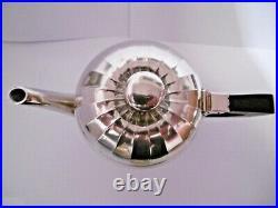 Lovely Antique Art Deco Christofle Silver Plated Ebony Handle 4 Piece Teaset