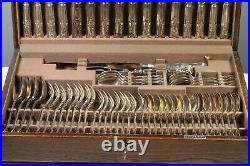 MAPPIN & WEBB Silver Plated Canteen of cutlery Kings Pattern 58 piece + KEY