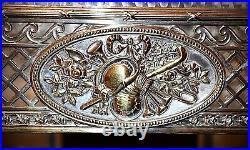 Magnificent WMF Silver Plated Art Nouveau Jardiniere Centre Piece, Original Glass
