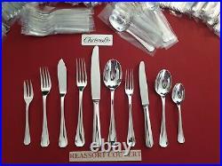 Ménagère Art Déco Boreal 127 Pieces Super Christofle Silver Plated Flatware Set