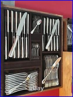 Ménagère Berain 155pieces Christofle Petite Coquille Silver Plated Flatware Set