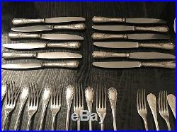 Menagère CHRISTOFLE silverplate France modéle marly en métal argenté 88 piéces