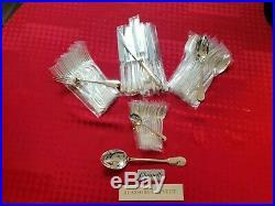 Ménagère Cluny Superbe 49 Pieces Christofle Silver Plated Flatware Set