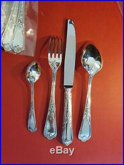Ménagère Ercuis Rocaille 49 Pièces Louis XV Silver Plated Flatware Set