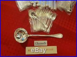 Ménagère Malmaison Superbe 49 Pieces Christofle Silver Plated Flatware Set