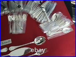 Ménagère Marly 127 Pieces Super Christofle Silver Plated Flatware Set