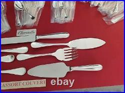 Ménagère Perles 139 Pieces Super Christofle Silver Plated Flatware Set