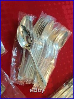 Ménagère Perles Superbe 49 Pieces Christofle Silver Plated Flatware Set