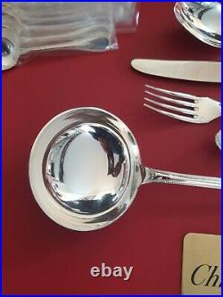 Ménagère Perles Superbe 49 Pieces It Christofle Silver Plated Flatware Set