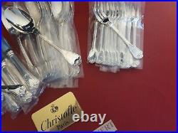 Ménagère Port Royal Superbe 62 Pieces Christofle Silver Plated Flatware Set