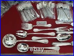 Ménagère Rubans 143 Pieces Super Christofle Silver Plated Flatware Set