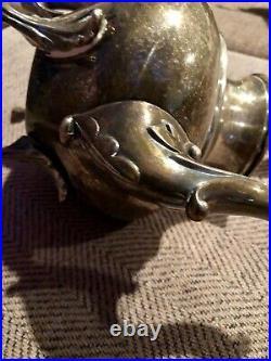Meneses Orfebres of Madrid Spain Antique 5 piece tray tea coffee sugar creamer