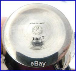 Meriden Britannia Co Silverplate Repousse Tea Set 5-Piece #1447 with Tray (#3191)