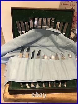 NEWBRIDGE Canteen Of GRECIAN design Silver Service Cutlery 66 Piece 8 People Set