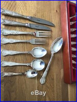 NEWBRIDGE Canteen Of KINGS design Silver Service Cutlery 44 Piece