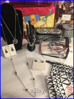 NWT Brighton HALO Tanzanite GIFT LOT 6 Pieces Necklaces Earrings Sunglasses More