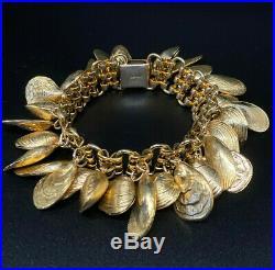 Napier 30 Clam Shells Charm Bracelet Spectacular Book Piece of The Napier Co