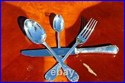 Nice Christofle Marly Silver Plated 24 Pieces Flatware Set in Six Settings