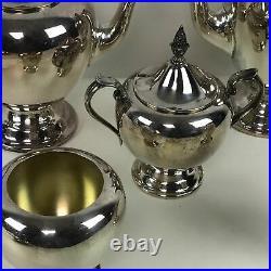 Nice Gorham 5 Piece Colonial Silverplate Coffee Tea Service