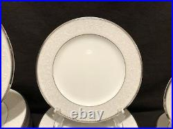 Noritake Silver Palace 60 Piece 12 Place Settings Dinner Salad Bread Plate Cup