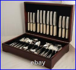 OLD ENGLISH Design COOPER BROTHERS Silver Service 127 Piece Canteen of Cutlery