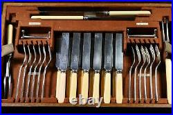 OLD ENGLISH Design MAPPIN & WEBB 12 Place Setting 88 Piece Canteen of Cutlery
