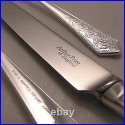 OLD IRISH By ARTHUR PRICE Sheffield Silver Service 84 Piece Canteen of Cutlery