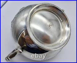 Old Silver Plated Four Piece Tea Service