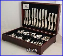 PISTOL RATTAIL Design SHEFFIELD Silver Service 127 Piece Canteen of Cutlery