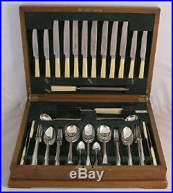 PLAIN PINE Design ROBERTS & BELK Silver Service 65 Piece Canteen of Cutlery