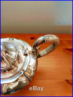 Pairpoint Silverplate Tea/Coffee Set 4 Pieces New Bedford MA Circa 1880-1929