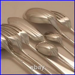 RATTAIL Design GEORGE BUTLER & CO Silver Service 84 Piece Canteen of Cutlery