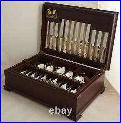 RITZ Design ARTHUR PRICE Sheffield Silver Service 66 Piece Canteen of Cutlery