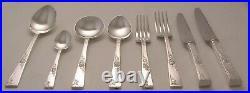 ROSE GARDEN Design SMITH SEYMOUR LTD Silver Service 44 Piece Canteen of Cutlery
